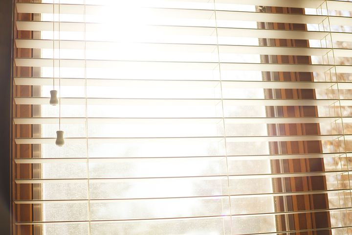 clear window blinds